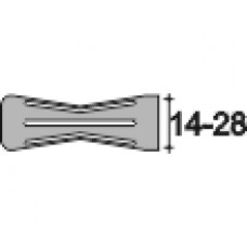 Защита пластиковая для арматуры диаметра 14-28 мм, Модель РАМ, оранжевый