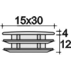 Заглушка пластиковая прямоугольная 15х30, декоративная, белая