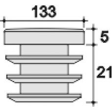 Заглушка д.133 черная внутренняя