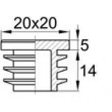 Заглушка пластиковая квадратная 20х20, практичная, Серия IQL, стенка 0.8-2.5 мм, белая
