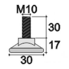 Резьбовая опора М10х30 с круглым основанием 30 мм.