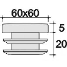 Заглушка пластиковая квадратная 60х60  практичная  серая