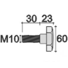 Фиксатор пластиковый с рукояткой D60 и резьбой М10х30, Модель 83, чёрный