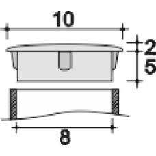 Заглушка пластиковая с тонкой шляпкой 10 мм для отверстия диаметром 8 мм.