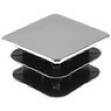 Заглушка пластиковая квадратная 25х25, практичная, чёрная