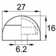 Составной колпачок под болт или гайку М6. Имеет основание диаметром 27 мм.
