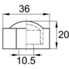 Составной колпачок с отверстием для крепления болтом М8-М10. Размер основания — 36 мм.