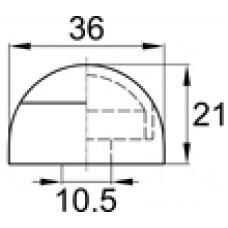 Составной колпачок под болт или гайку М8-М10. Имеет основание диаметром 36 мм.