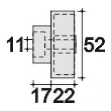 Колесо мебельное пластиковое ступенчатое, наружный диаметр 52 мм и внутренний 11 мм.