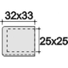 Наконечник пластиковый для труб квадратного сечения с внешними габаритами 25х25 мм Серый