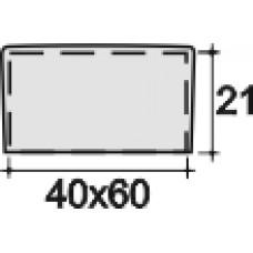 Заглушка пластиковая прямоугольная 40х60, наружная, Модель NSP, серая