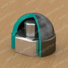 Колпачок пластиковый на болт/гайку M16 с диаметром основания 27.5 мм и высотой 26.5 мм