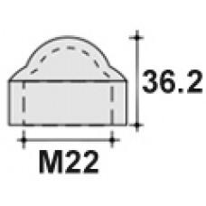 Колпачок пластиковый на болт/гайку M22 с диаметром основания 39.7 мм и высотой 36.2 мм.