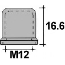 Колпачок пластиковый на винт/болт M12 с диаметром основания 26.5 мм и высотой 16.6 мм