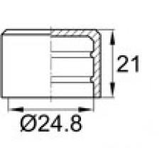 Заглушка пластиковая наружная для транспортировки труб Ø24.8 мм.