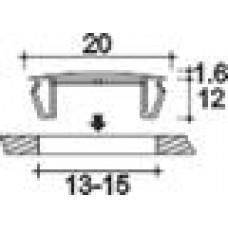 Заглушка пластиковая под отверстие d13-15, с ультратонкой шляпкой D20 мм, толщиной 1.6 мм, чёрная