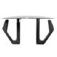 Заглушка пластиковая со шляпкой толщиной 1.6 мм и диаметром 25 мм для отверстия в листовом металле диаметром от 18 мм до 21 мм.