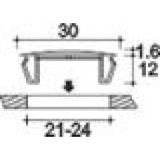Заглушка пластиковая под отверстие d21-24, с ультратонкой шляпкой D30 мм, толщиной 1.6 мм, чёрная