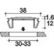 Заглушка пластиковая под отверстие d30-33, с ультратонкой шляпкой D38 мм, толщиной 1.6 мм, чёрная