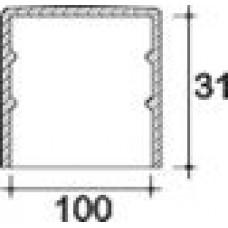 Заглушка пластиковая круглая d100 мм, наружная, Серия TXT, полупрозрачная