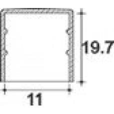 Заглушка пластиковая круглая d11 мм, наружная, серия TXT, полупрозрачная