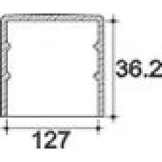 Заглушка пластиковая круглая d127 мм, наружная, Модель TXT, полупрозрачная