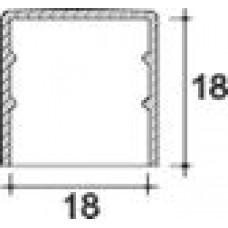 Заглушка пластиковая круглая d18 мм, наружная, Серия TXT, полупрозрачная