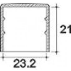 Заглушка пластиковая круглая d23,2 мм, наружная, Серия TXT, полупрозрачная