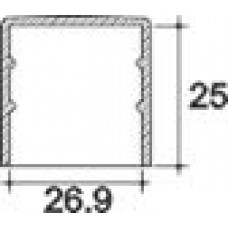 Заглушка пластиковая круглая d26.9 мм, наружная, Серия TXT, полупрозрачная