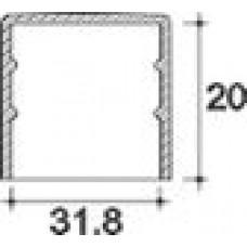 Заглушка пластиковая круглая d31,8 мм, наружная, Серия TXT, полупрозрачная
