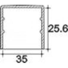 Заглушка пластиковая круглая d35 мм, наружная, Серия TXT, полупрозрачная