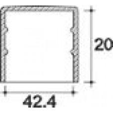 Заглушка пластиковая круглая d42,4 мм, наружная, Серия TXT, полупрозрачная