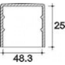 Заглушка пластиковая круглая d48,3 мм, наружная, Серия TXT, полупрозрачная