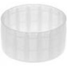 Заглушка пластиковая круглая d52 мм, наружная, Серия TXT, полупрозрачная