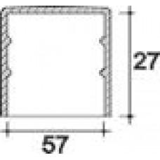 Заглушка пластиковая круглая d57 мм, наружная, Серия TXT, полупрозрачная