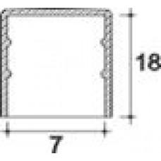 Заглушка пластиковая круглая d7 мм, наружная, Серия TXT, полупрозрачная