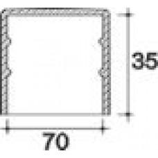 Заглушка пластиковая круглая d70 мм, наружная, Серия TXT, полупрозрачная