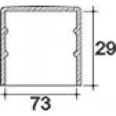 Заглушка пластиковая круглая d73 мм, наружная, Серия TXT, полупрозрачная