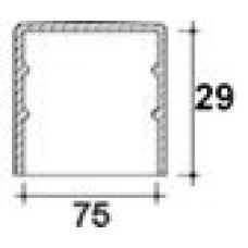 Заглушка пластиковая круглая d75 мм, наружная, Серия TXT, полупрозрачная