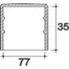 Заглушка пластиковая круглая d77 мм, наружная, Серия TXT, полупрозрачная