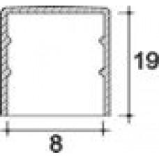Заглушка пластиковая круглая d8 мм, наружная, Серия TXT, полупрозрачная