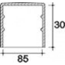 Заглушка пластиковая круглая d85 мм, наружная, Серия TXT, полупрозрачная
