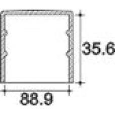 Заглушка пластиковая круглая d88,9 мм, наружная, Серия TXT, полупрозрачная