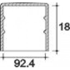 Заглушка пластиковая круглая d92,4 мм, наружная, Серия TXT, полупрозрачная