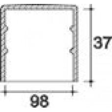 Заглушка пластиковая круглая d98 мм, наружная, Серия TXT, полупрозрачная