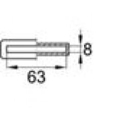 Латодержатель пластиковый внутренний для лат сечением 8х63 мм.