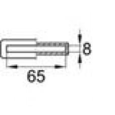 Латодержатель пластиковый внутренний для лат сечением 8х65 мм.