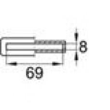Латодержатель пластиковый внутренний для лат сечением 8х68 мм.
