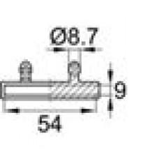 Латодержатель пластиковый двойной для лат 8х53 мм.