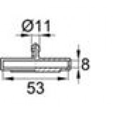 Пластиковый двойной латодержатель для лат сечением 8х53 мм.